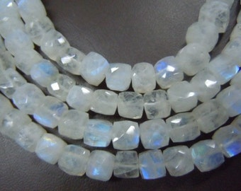 Rainbow Moonstone Gemstone Faceted Box Beads 7 Inches AAA Quality Size -7x7MM  Approx Wholesale Price