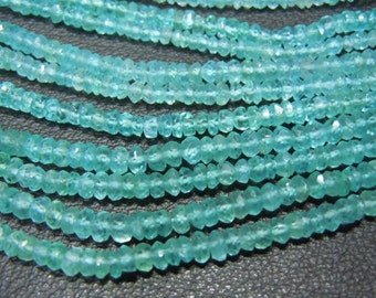 Apatite Rondelle Faceted Beads Gemstne  AAA Quality 14 InchesSize - 3mm Approx Wholesale Price