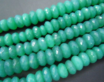 green onyx faceted roundel beads aaa high quality size-12mm approx 8 inches really top grade