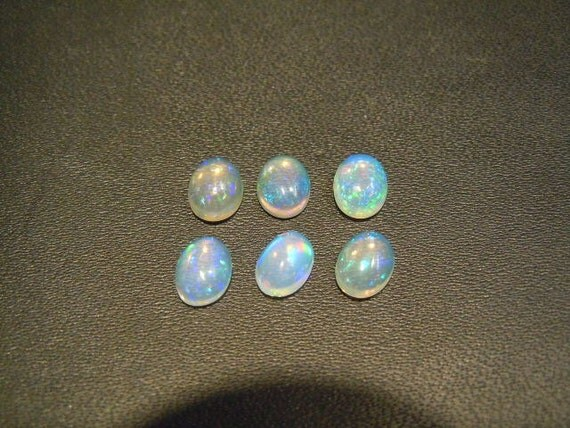 wow wow what amazing Ethiopian opal multi firing cabochon size 5x7mm mix lot 6 pc price unbelievable cheap only only only for  now