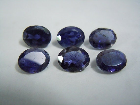 iolite gemstone cut aaa quality 6pc size by