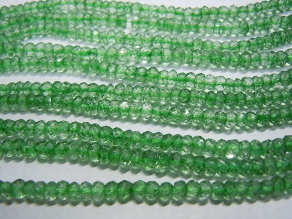 Crystal Quartz Coated Faceted Rondelle Beads 14''  AAA Quality 5 Strands  Size 3.5MM Approx Wholesale Price