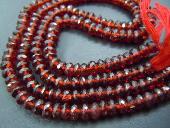 8 inches -top grade red Mozambique garnet faceted roundel beads aaa high quality size 8mm approx