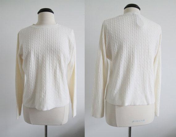 Vintage 80s Cream Soft Sweater