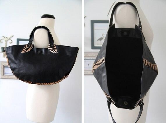 SALE was 299.00 Amazing Rare Falor Le Borse Italian Genuine Leather Large Handbag/Tote