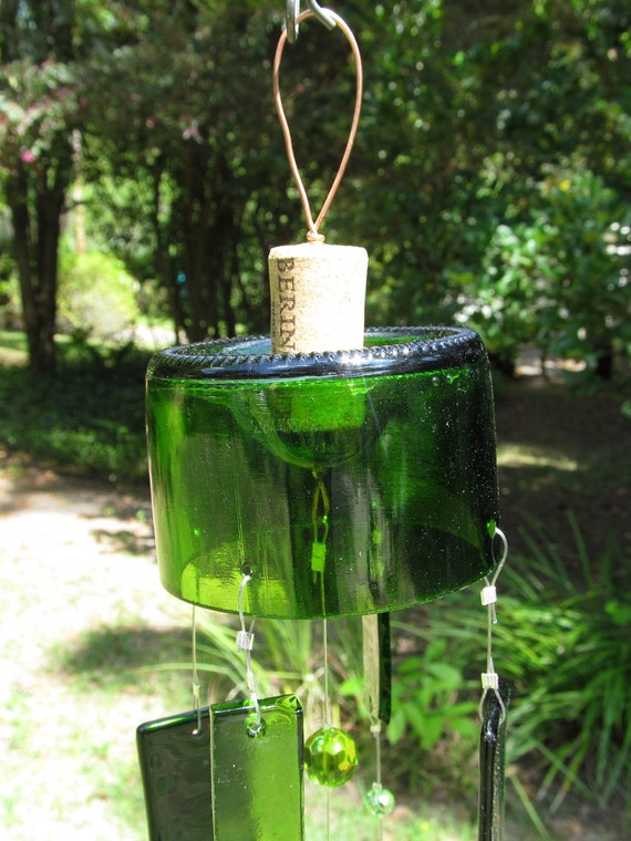 Up Cycled Bottle Wind Chimes