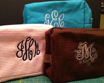 SALE! Cosmetic Makeup Bag Monogrammed -Great Christmas or Graduation Gift SALE!