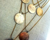 Zodiac Constellation Necklace - What's Your Sign - Aquarius Brass Necklace by E. Ria Designs Jewelry