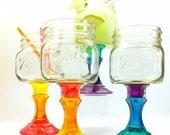 Sammylynn8 A Listing Just For You Six Custom Mason Jar Wine Glasses