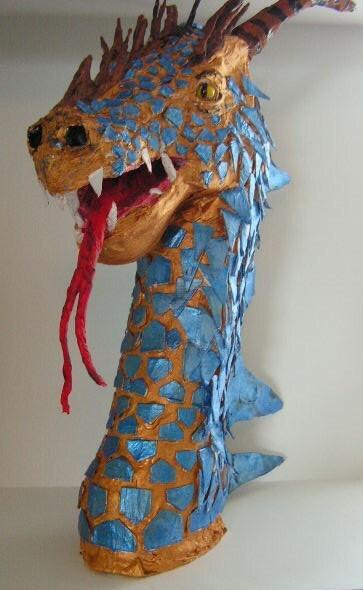 Dragon Head Paper Mache Clearance Sale