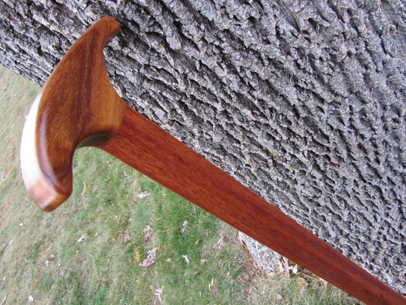 "Sale - Walking Cane/Stick - Handmade - Cumaru & Jatoba 36 1/4"" - 34 1/4"""
