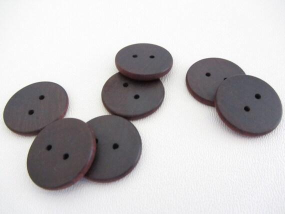 Honduran Rosewood Buttons - Lot of 8 Handmade buttons