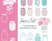 Clip art - Jars Set