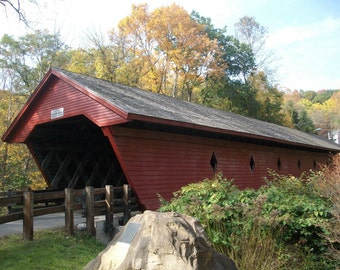 Covered Bridge, Newfield, N.Y. Fine Art Photography Print