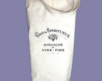 French Vintage Wine Label Alcohol/Wine Gift Bag