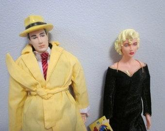 1990 Dick Tracy & Madonna Breathless Mahoney Applause Dolls Disney Action Figures