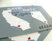Save the Date Postcards Custom State Wedding Map - Set of 48 - Love Will Find A Way Series