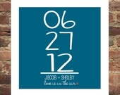 Anniversary Gift Personalized Special Date Print Any Color Combo Available Any Saying Available Engagement Gift