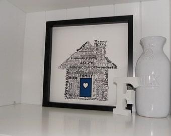 Home Sweet Home Word Art Print Typography Art