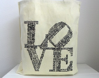 Love Tote Wedding Welcome Bags Wedding Favor Bags Love Never Fails Canvas Tote Wedding Guest Bags Love Is Patient Love Is Kind