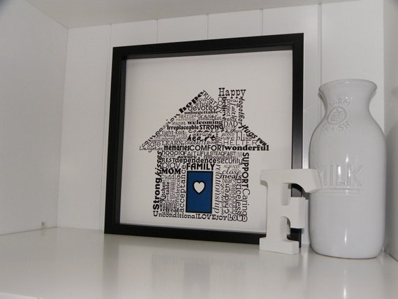 Home Sweet Home Word Art Print Typography Art