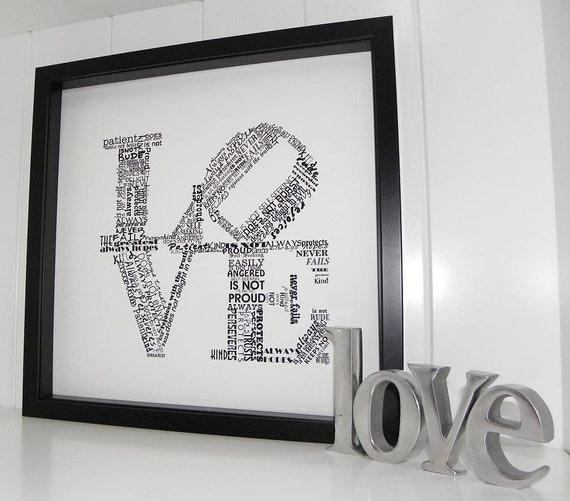 love never fails framed art print 1 corinthians 13 wedding. Black Bedroom Furniture Sets. Home Design Ideas