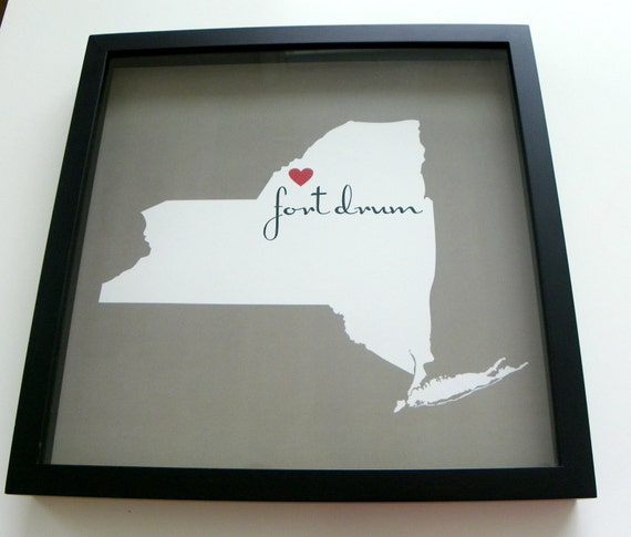 Home is Where the Army Sends Us State Map FRAMED Military Family Wall Art Military Gift Any Location Worldwide Holiday Gift