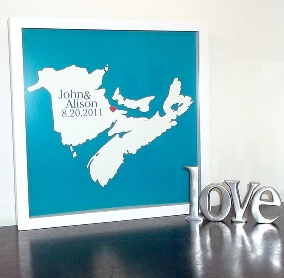 Personalized Wedding Picture Frames Canada : Wedding Gift Custom Canada Map Canada Wedding Gift FRAMED ART Print ...