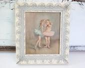 Vintage Framed Ballerina Print Ballet Print