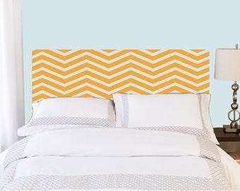 Chevron Headboard Decal    Vinyl wall sticker decal   chevron pattern   Bedroom Decor   FREE SHIPPING