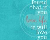 Love Life digital Print 8x10