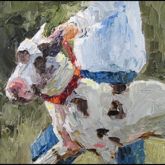 Palette Knife Painting of Great Dane