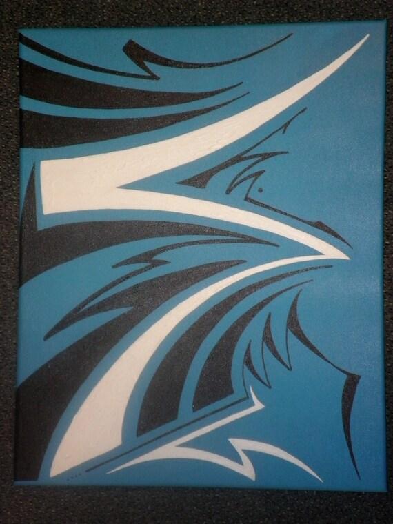 "16"" x 20"" original, acrylic, abstract painting ""Thunder and Lightning"""