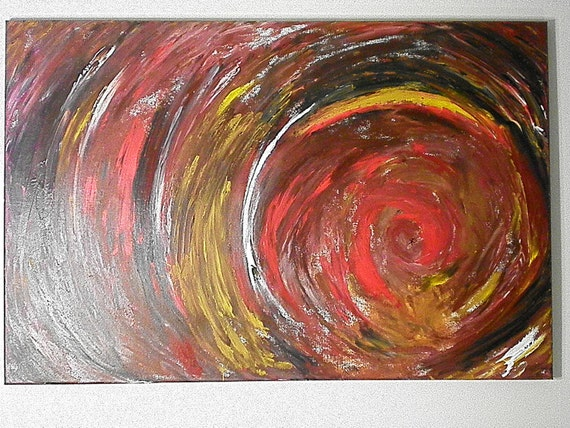 "Commissioned piece...24"" x 36"" original, acrylic, abstract painting entitled ""An Emotional Drowning"""
