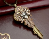 Key to the Darkness  - Recycled Key Pendant
