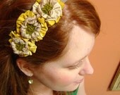 the yellow sunflower crown