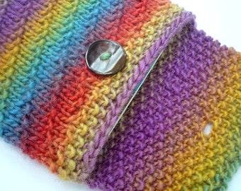 Spiral Knit Cozy, PDF Pattern, for your nook, kindle, or other electronic device