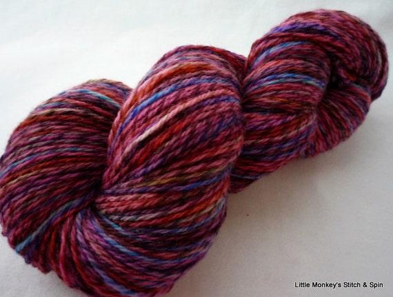 "Handdyed Yarn, ""Traveler"" on Twisty Merino, sock"