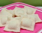 Felt RAVIOLI PASTA - Play Food Pretend Food - Fun felt food