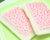 Felt POPTART SET - Pretend Food Play Food - Set of 2 Felt Poptarts Pastries