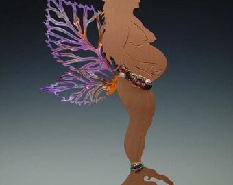 Plant Stick- Pregnant Raspberry Fairy Goddess