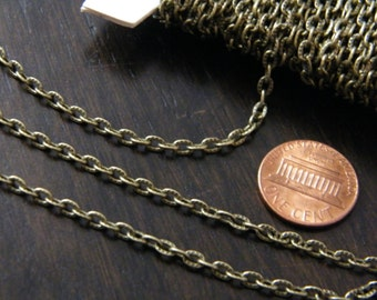 40ft Spool Antiqued Bronze Textured Cable Chain 4x3mm
