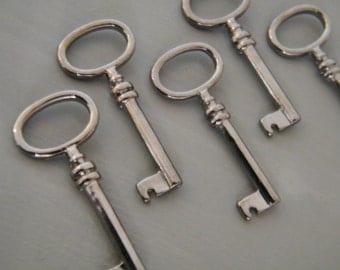 Brontë - Skeleton Keys - 4 x Gunmetal Old Keys Skeleton Key Keys