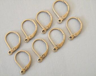 100 x Antique Brass Bronze Leverback Earwire Earrings 10x15mm