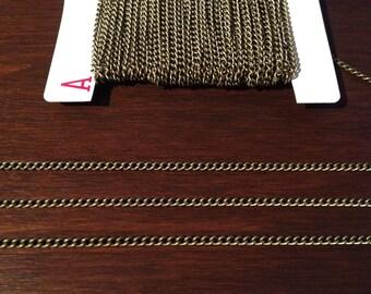 10ft Antique Brass Bronze Chain Twist Curb Chain 3.7 x 2.5 - B