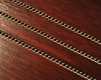 20ft Antique Brass Bronze Chain Twist Curb Chain 3.7 x 2.5 - B