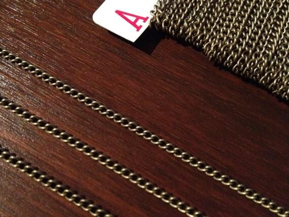 40ft Antique Brass Bronze Chain Twist Curb Chain 3.7 x 2.5 - B