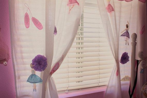 Plum Purple Magnetic Tie Backs Fabric Flowers