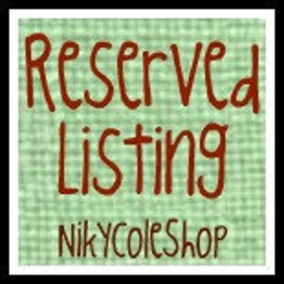Reserved Listing for KASSI