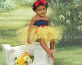 Snow white princess birthday tutu dress Photo Prop Baby shower gift